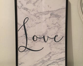 Grey marble LOVE