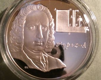 Daniel Bernoulli - Sterling Silver History of Science (Proof)