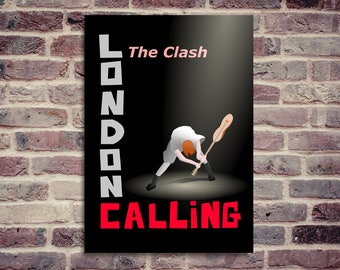 The Clash. London Calling poster. The Clash poster. The clash London calling poster.