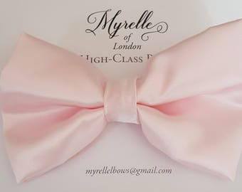 Stunning, bridal, wedding, hair bows children's, adult's, satin, pink,  fashion, clips, hair, plain, elegant,
