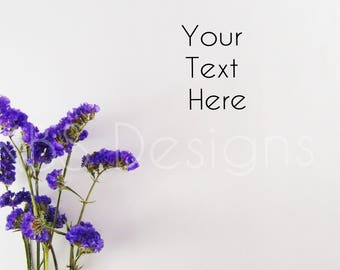 Purple Flower Boarder /Stock Photos/ Styled Photo Background/ Social Media / Styled Stock Photography