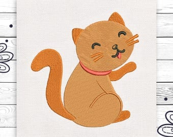 Kitty embroidery For kids Discount 10% Machine embroidery design 3 sizes Digital embroidery INSTANT DOWNLOAD EE5151