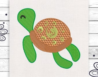 Turtle embroidery Discount 10% Digital embroidery Machine embroidery design 3 sizes INSTANT DOWNLOAD EE5153