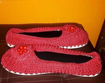 Handmade knitted slippers!