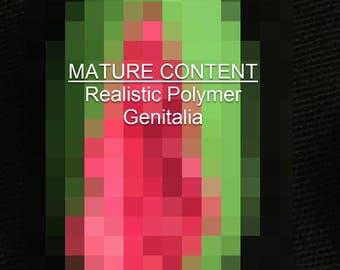 Small/Pink&Green/Pin Realistic Alien Vagina