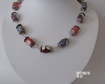 Lovely and natural looking  fire agate gemstone necklace