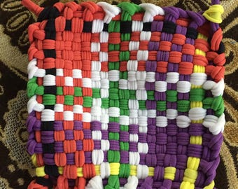 Hand-Woven Pot Holder (Chosen Color Plus Design)