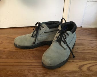 Timberland Lowcut Boots Blue Grey Suede Waterproof Womens 5