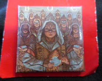 1981 Blue Oyster Cult Fire Of Unknown Origin LP Pin Back Button 80s vintage