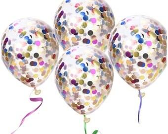 """Confetti Balloons, 12"""" Latex Confetti Balloons, Multi-Color Confetti, Balloons"""