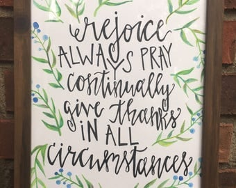 Hand Painted Watercolor with Scripture
