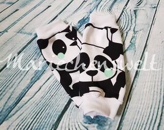 Leg warmers for children with Panda Unicorn or autumn motif