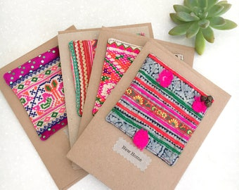 Greeting card - Hill tribe textile large