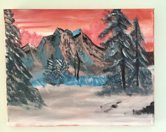 Mountains in the Morning - Painting
