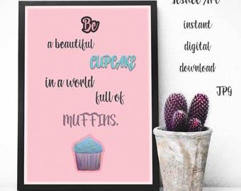 Printable art, Motivation quote art, Digital print, Pink digital print, Home decor, Wall decor