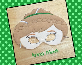 Cold Princess Mask- Anna Inspired-Ready to Ship-Dress Up/Imaginary Play-Halloween Mask-Pretend Play-Photo Prop-Party Favor-Theme Party