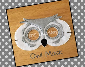 Owl Mask- Child's Dress Up and Imaginary Play- Birthday Party Favor-Photo Shoot-Pretend Play-Theme Party-Woodland Animal Mask