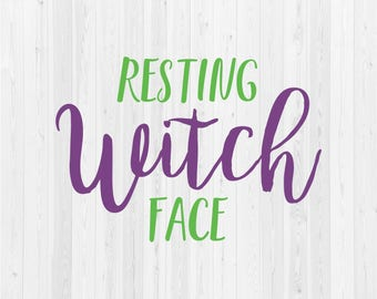 Resting Witch Face - SVG Cut File