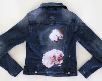 Peony Paradise Denim Jacket–SOLD