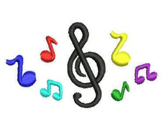 NeedleUp - Music Notes embroidery design