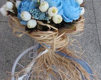 Bride Bouquet,Bride, Bouquet, Daisy, Roses,Wedding Flower Bouquet, Customizable