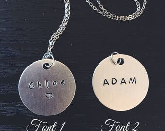 Engrave Name Initials Necklace