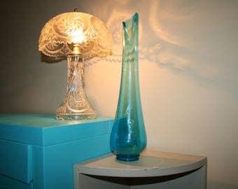 1960's MID Century Viking Glass, Swung Vase