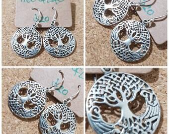 Tree of Life 925 Silver Earrings
