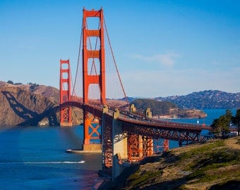 Golden Gate Bridge, Nature, San Francisco, California, Photography, Print