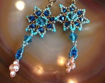 Lever back earrings handmade