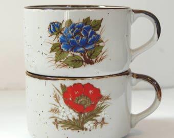 1970's Stoneware Soup Mugs