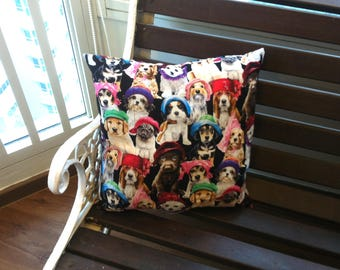 These Puppies Are Disappointed In You Too  (A cushion to accentuate your nightmares & dreamscapes).