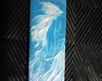 Blue and silver bookmark