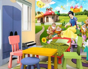 3D Maples S28 Snow White And The Seven Dwarfs Wallpaper Mural Wall Print Decal  Wall Deco Part 57