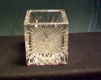 Small Waterford Crystal 2000 AD Cross Votive
