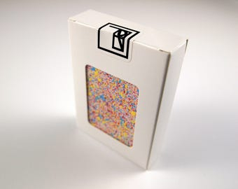 Hand Painted Technicolor Playing Cards