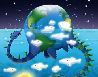 Earthasaurus (print)