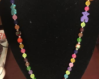 Colorfull frosted beads necklace