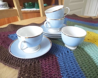 Royal Doulton Bruce Oldfield Blue and White Teacup and Saucer