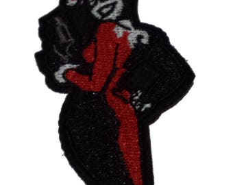 """FREE SHIPPING-Domestic-InspireMeByAudrey DC Comics Harley Quinn Figure (Batman Joker) Embroidered Sew/Iron-on Patch/Appliques 3.75"""""""
