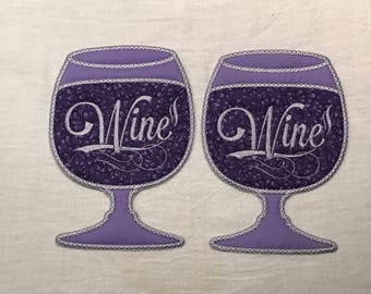 Embroidered Wine Coasters