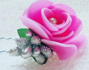 Flower hair grip, flower hair pin, wedding hair pin, wedding hair grips, flower pin, bridal hair accessories, wedding hair accessories,