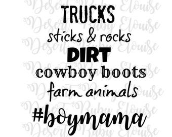 Country Boy Mama SVG / Boy Mom SVG / Country Boy svg / BoyMama svg / Cricut SVG / Momma's Boy svg / Farming Boy Mom /