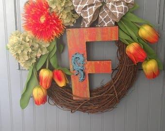 Custom Letter Wreath