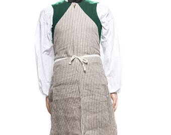 Men's Linen Work Apron- 18th Century