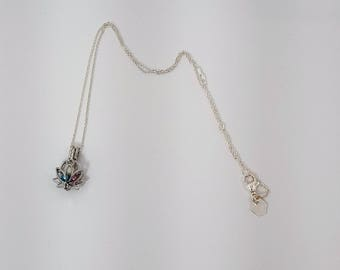 Lotus Flower Pendent (includes optional chain and pearls)