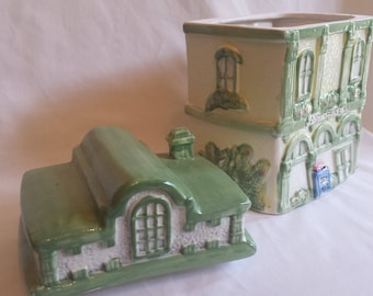 Vintage Collectible Ceramic Post Office