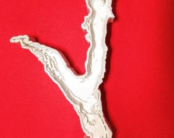 Sturgeon Lake 3D Printed Depth Map