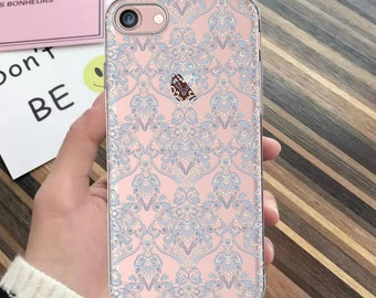 iPhone 8 plus case,iPhone 7 case,iPhone 7 Plus case,iPhone 6 case,clear,iPhone X case,LACE,iPhone 8 case,iPhone 6 Plus,iPhone SE case,blue