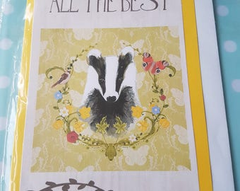 Small All the best badger card